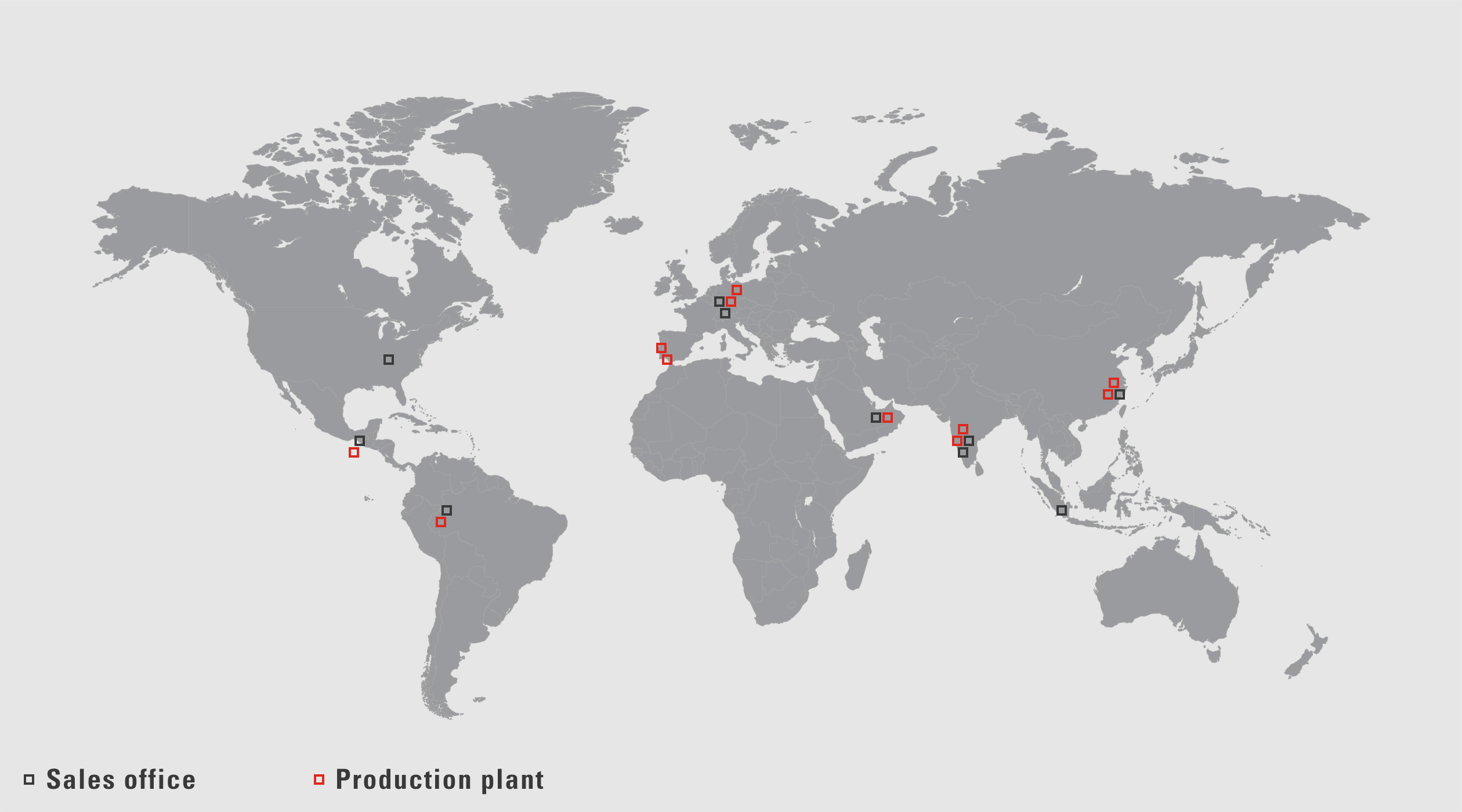 VAUTID sales offices and production plants